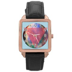 Cosmic Circle Rose Gold Leather Watch