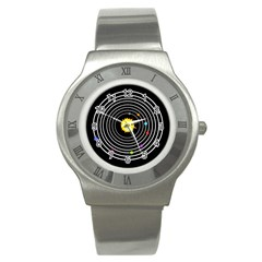 Solar System Stainless Steel Watch (slim)