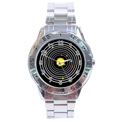 Solar System Stainless Steel Watch