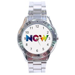 Time Is    Stainless Steel Watch