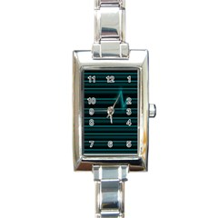 I m Alive Rectangular Italian Charm Watch