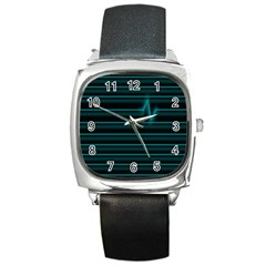 I m Alive Square Leather Watch