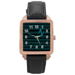 I m Alive Rose Gold Leather Watch