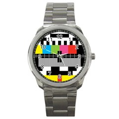 Test Pattern Sport Metal Watch