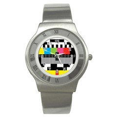 Test Pattern Stainless Steel Watch (slim)