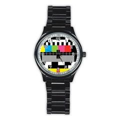 Test Pattern Sport Metal Watch (black)