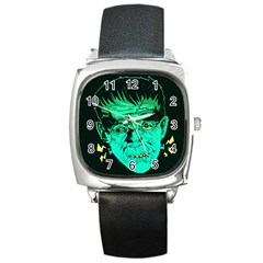 Framk Square Leather Watch
