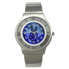 Peace Stainless Steel Watch (slim)