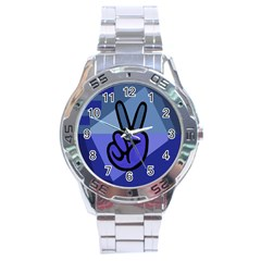 Peace Stainless Steel Watch
