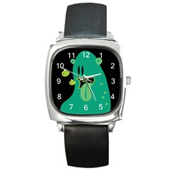 Monster Square Leather Watch