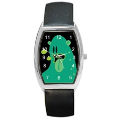 Monster Tonneau Leather Watch