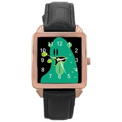 Monster Rose Gold Leather Watch