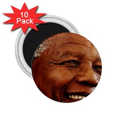 Mandela 2 25  Button Magnet (10 Pack)