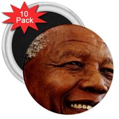 Mandela 3  Button Magnet (10 pack)
