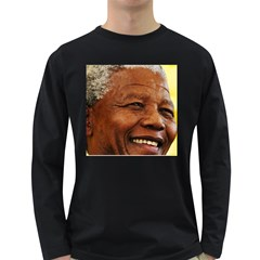 Mandela Mens' Long Sleeve T-shirt (Dark Colored)