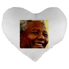 Mandela 19  Premium Heart Shape Cushion