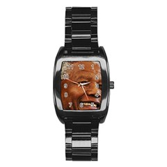 Mandela Stainless Steel Barrel Watch