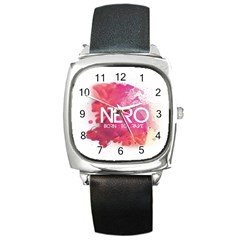 Nero ! Watch Square Leather Watch
