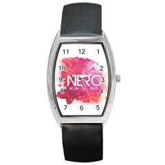 Nero ! Watch Tonneau Leather Watch