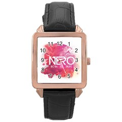 Nero ! Watch Rose Gold Leather Watch