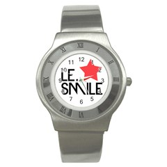 Le. Smile Stainless Steel Watch (Slim)