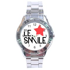 Le  Smile Stainless Steel Watch