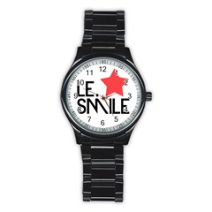 Le. Smile Sport Metal Watch (Black)
