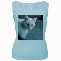 Beebee On Concrete Womens  Tank Top (Baby Blue)