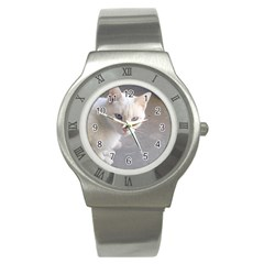 Beebee On Concrete Stainless Steel Watch (Slim)