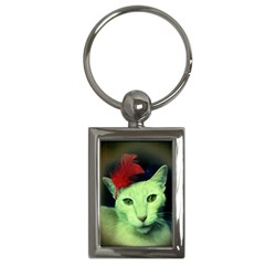 Charlie Red Feather Key Chain (rectangle)