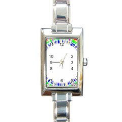 Color Chill Rectangular Italian Charm Watch