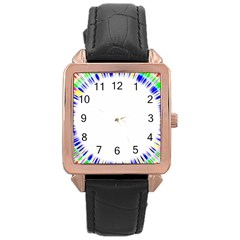 Color Chill Rose Gold Leather Watch