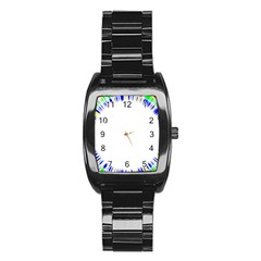 Color Chill Stainless Steel Barrel Watch