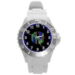 Black Chill O Plastic Sport Watch (large)