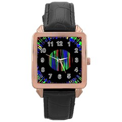 Black Chill O Rose Gold Leather Watch