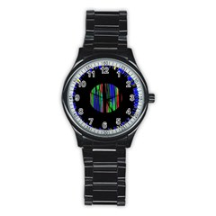 Black Chill O Sport Metal Watch (Black)