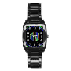 Black Chill O Stainless Steel Barrel Watch