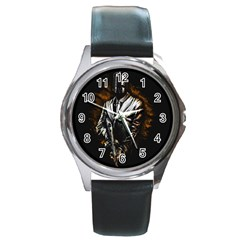 MusicMafia Round Metal Watch