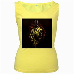 MusicMafia Women s Yellow Tank Top