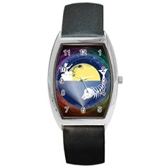 Fishing Dead Tonneau Leather Watch