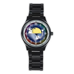 Fishing Dead Sport Metal Watch (Black)
