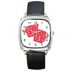 My Lucky Time Square Leather Watch