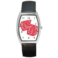 my lucky time Tonneau Leather Watch