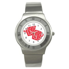 my lucky time Stainless Steel Watch (Slim)