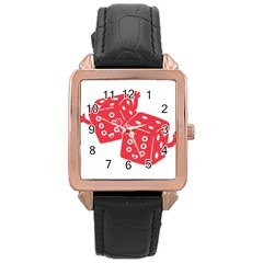 My Lucky Time Rose Gold Leather Watch