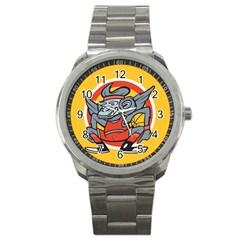 Flying Monkey Sport Metal Watch