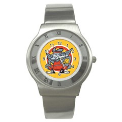 Flying Monkey Stainless Steel Watch (Slim)