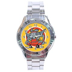 Flying Monkey Stainless Steel Watch