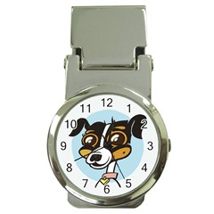 Danny Dog Money Clip With Watch