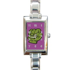 Hulk Smash Rectangular Italian Charm Watch